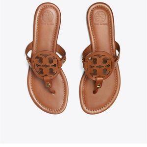 Tory Burch Miller sandals vachetta brown 10